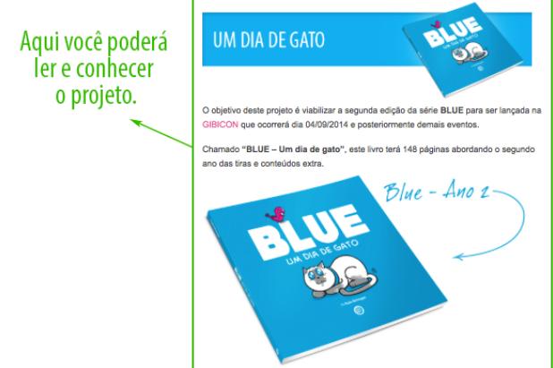 Blue texto