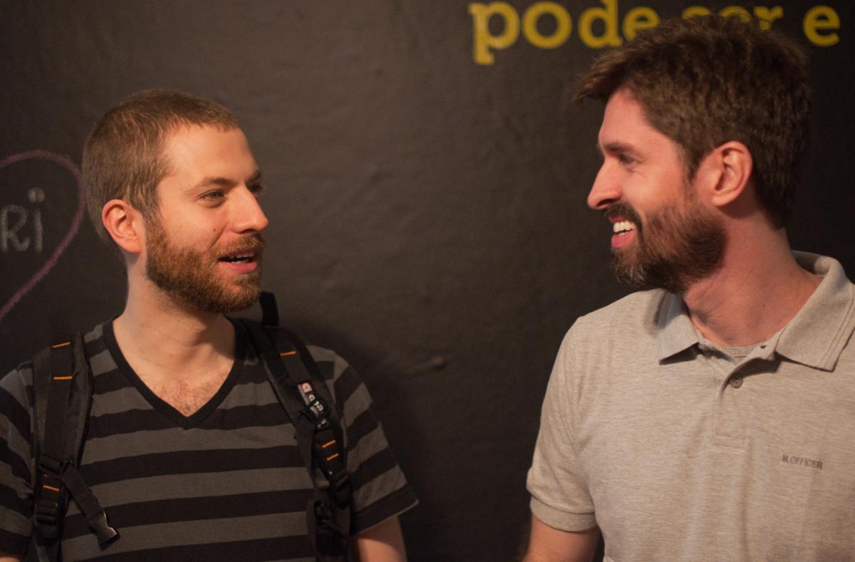 Deco Benedykte, da revista Efêmero Concreto, e Márcio Sequeira, do Projeto Mola