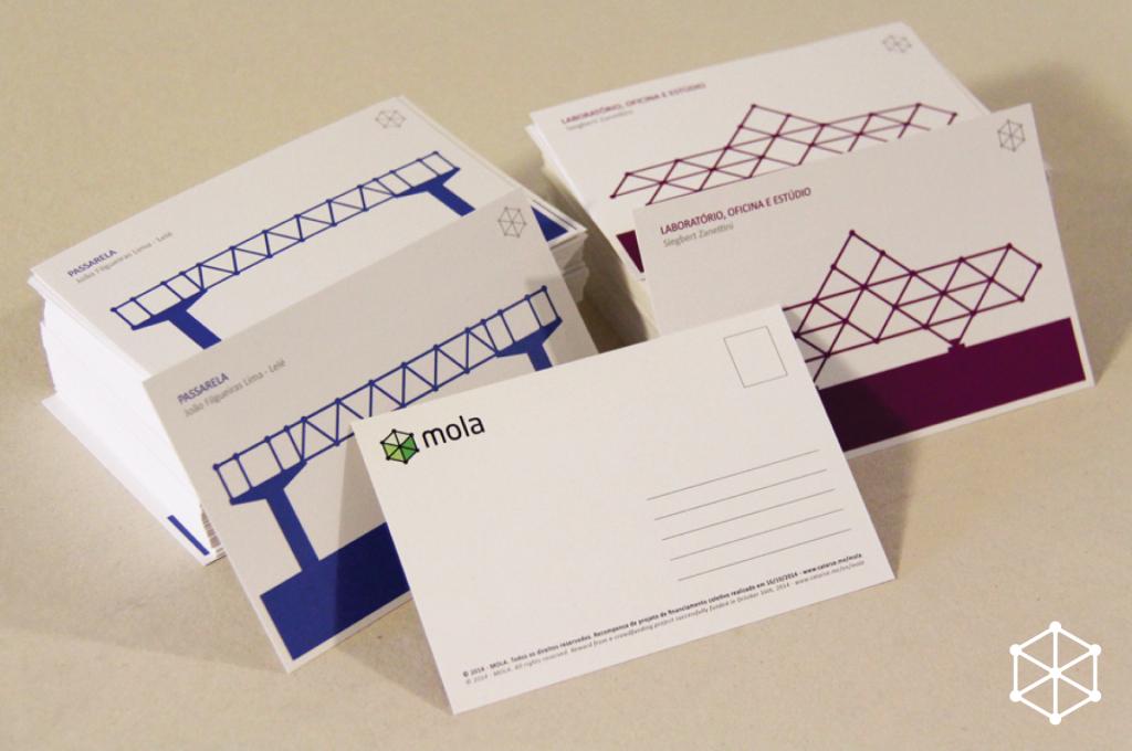 Cartões postais do projeto Mola