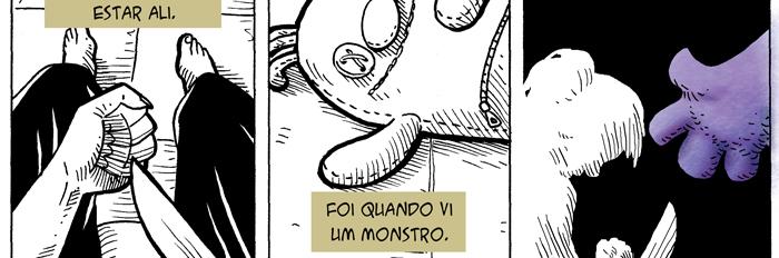 trecho da graphic novel O Monstro
