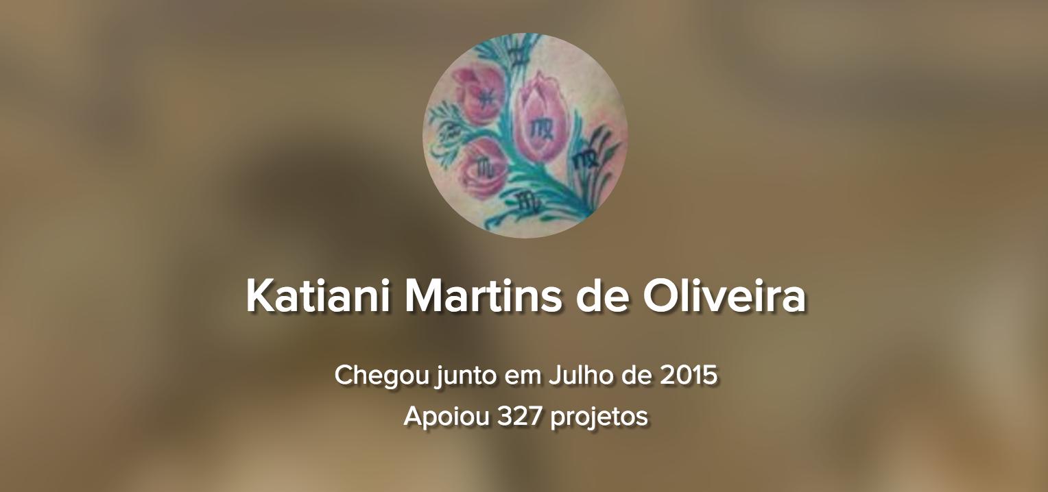 Katiani Martins: mudando o mundo, um projeto por vez