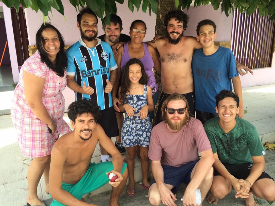Família que recebeu Apanhador Só em Maceió