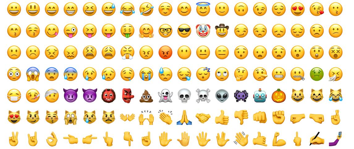 Um emoji vale mais do que mil palavras.