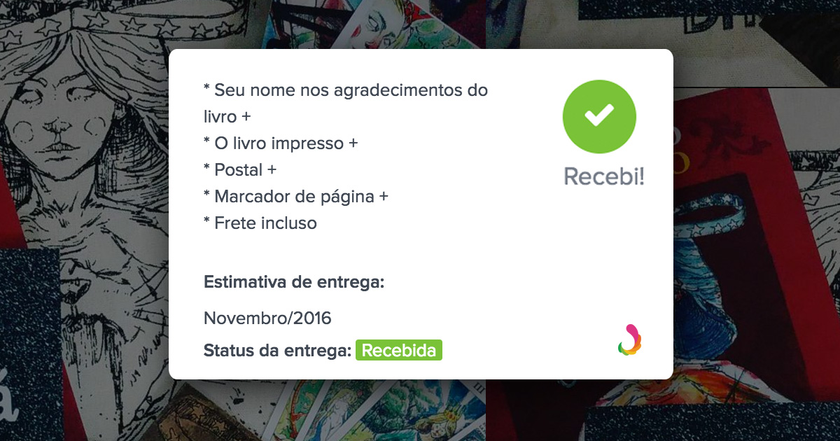 Gerencie sua entrega de recompensas do Catarse