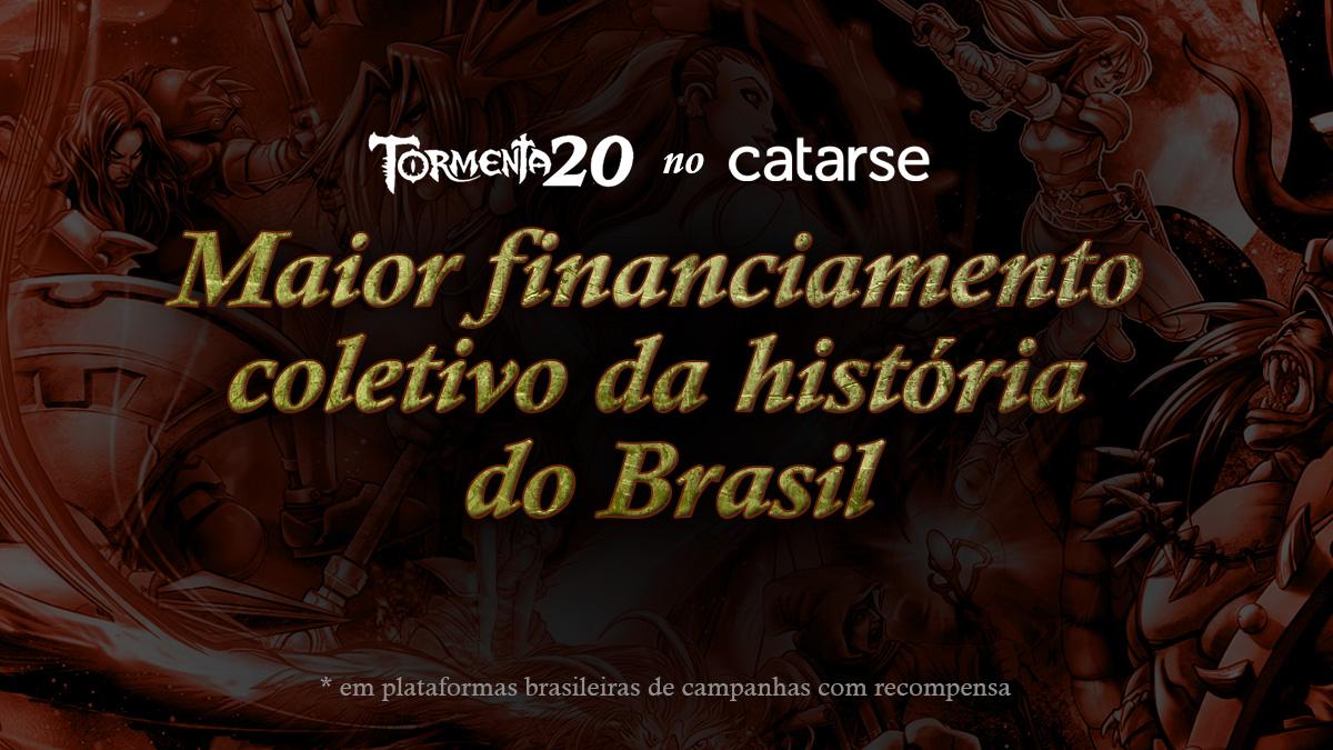 Tormenta 20 bate recorde histórico de financiamento coletivo no Brasil