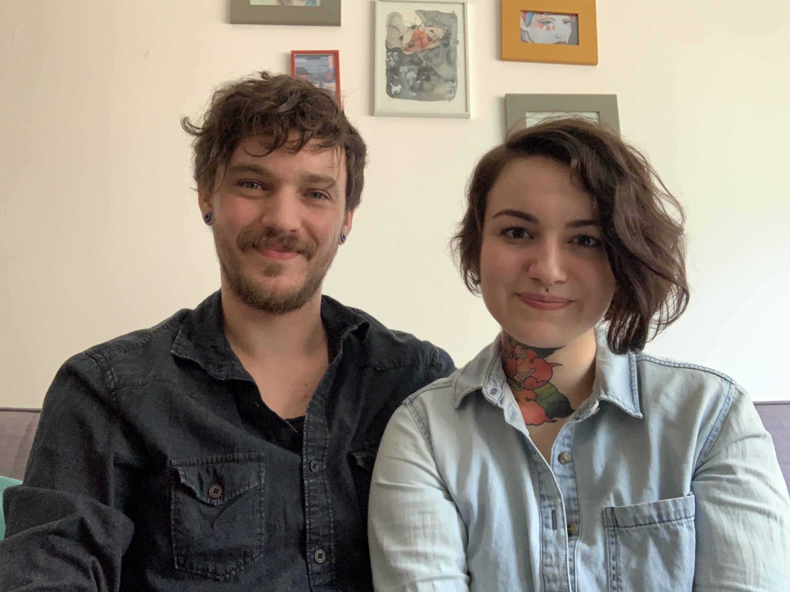 Rafael e Lívia, proprietários da Castela Tattoo Shop