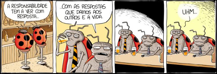 Tira do projeto Ciclanas e Ciclanos feita pelo cartunista Will Leite, que está com um projeto no Catarse