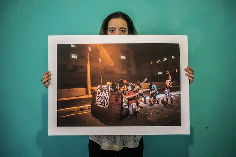 Uma das fotografias oferecidas como recompensa no projeto dos Jornalistas Livres
