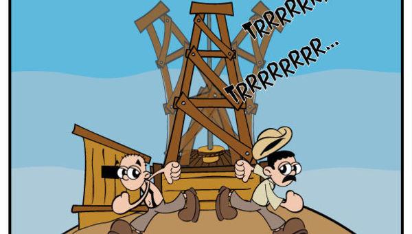 historia do petroleo em hq